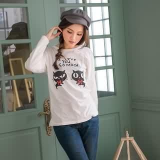 RingBear - Cat-Print T-Shirt