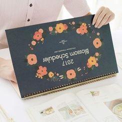 OH.LEELY - Floral Print Desktop Schedule