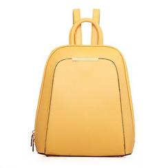 Pandabada - Plain Faux Leather Backpack