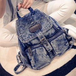 I.O.U - Denim Flap Backpack