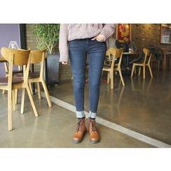 Envy Look - Fleece-Lined Skinny Jeans