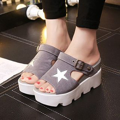 Sunsteps - Star Platform Hidden Wedge Slide Sandals