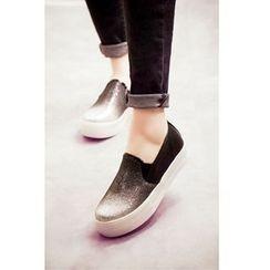 Mancienne - Glitter Slip-Ons