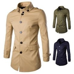 Bay Go Mall - High Collar Military Jacket