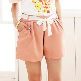 CatWorld - Chiffon Shorts with Sash