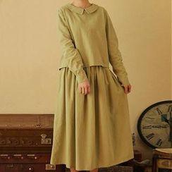 Moriville - Set: Long-Sleeve Blouse + Maxi Skirt