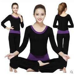 AUM - Yoga Set: Tank Top + Long-Sleeve Top + Pants
