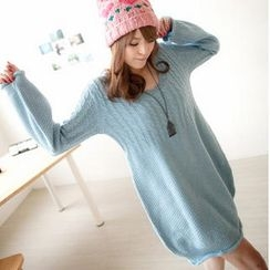 Tokyo Fashion - Cable-Knit Sweater Dress