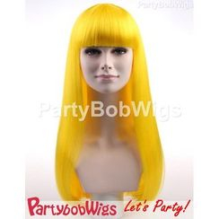 Party Wigs - PartyBobWigs - Party Long Bob Wig - Yellow