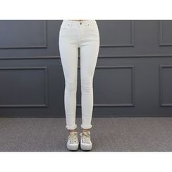 DANI LOVE - Brushed-Fleece Skinny Pants