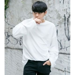 ABOKI - Round-Neck Long-Sleeve T-Shirt