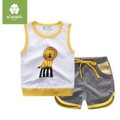 Endymion - Kids Set: Lion Print Tank Top + Shorts
