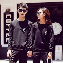 Riverland - Couple Matching Shark Print Sweatshirt