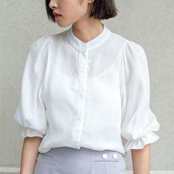 Sens Collection - 3/4 Lantern Sleeve Blouse