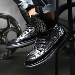 MARTUCCI - Faux-Leather High-Top Sneakers