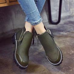 楊董 - 粗跟踝靴