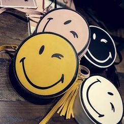 Secret Garden - Smiley Face Round Shoulder Bag