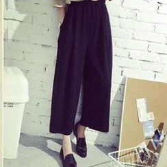 YOSH - Cropped Wide Leg Pants