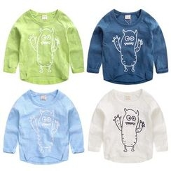 lalalove - Kids Cartoon Print Long-Sleeve T-Shirt