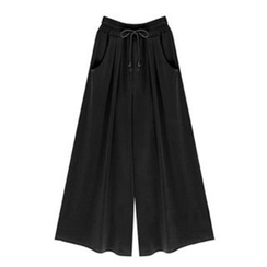 VIZZI - Drawstring Wide Leg Pants
