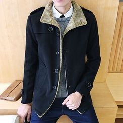 Alvicio - Fleece-lined Buttoned Jacket
