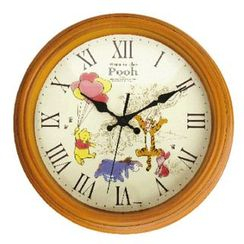 T'S Factory - Winnie the Pooh Wood Style Wall Clock