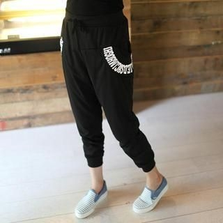 Mini Jule - Drawstring-Waist Printed Sweatpants