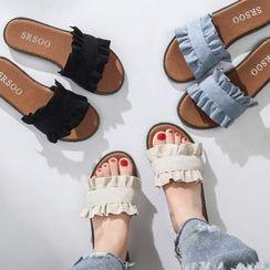 Yoflap - Frilled Slide Sandals