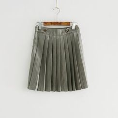Storyland - Pleated A-Line Skirt