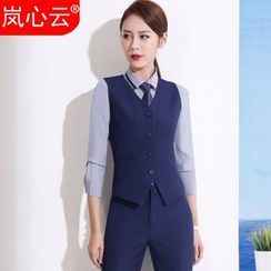 Skyheart - Buttoned Vest / Set: Buttoned Vest + Dress Pants / Skirt / + Dress Shirt