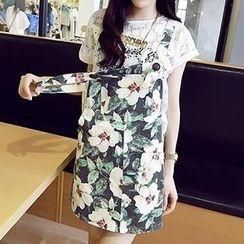 Chika - Floral Jumper Skirt