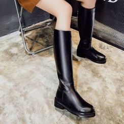 JY Shoes - Chunky Heel Tall Boots