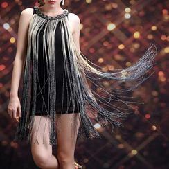 AIXI - Gradient Fringe Dance Dress