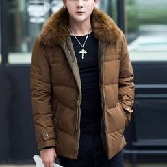 Recluso - Faux Fur Collar Padded Jacket