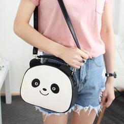Princess Carousel - Faux Leather Panda Hand Bag