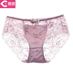 Charming Lover - Bow-Accent Lace-Panel Panties