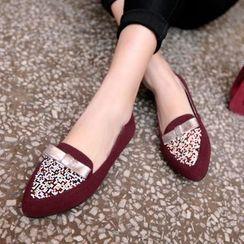 Kireina - 真皮蝴蝶结平跟鞋