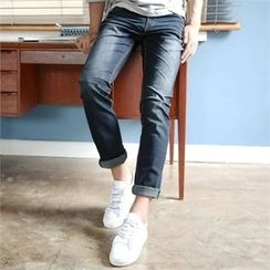 BYMONO - Washed Straight-Cut Jeans