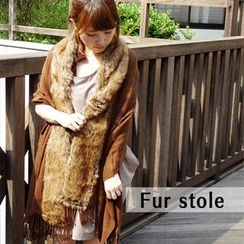 Tiritana - Faux-Fur Panel Scarf