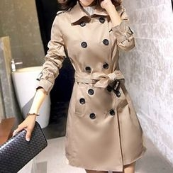 Emeline - Double-Breasted Trench Coat