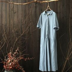 Rosadame - Short Sleeve Shirtdress