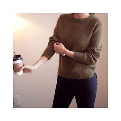 MASoeur - Slit-Hem Wool Sweater