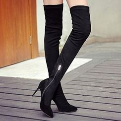 Gizmal Boots - High Heel Over-The-Knee Boots
