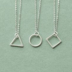 Love Generation - Geometric Sterling Silver Necklace