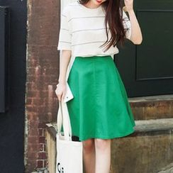 OTTI - Plain A-Line Skirt