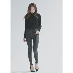 Chlo.D.Manon - Coated Brushed-Fleece Lined Skinny Pants