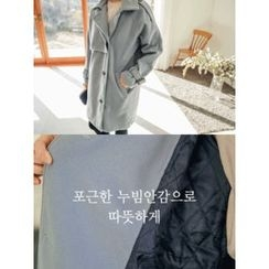 LOLOten - Epaulet Belted-Detail Wool Coat