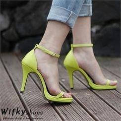 Wifky - 踝扣帶高跟涼鞋