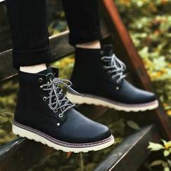 Ireoul - 仿皮系带靴