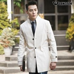 DANGOON - Mandarin-Collar Single-Breasted Coat